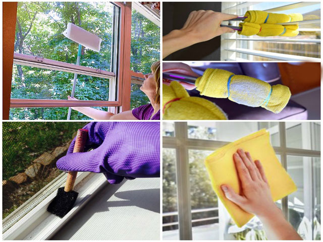 lavender makes cleaning the windows
