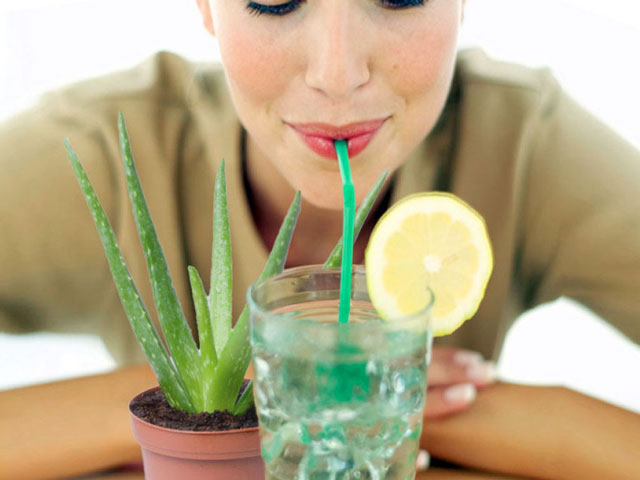 Drink aloe vera juice