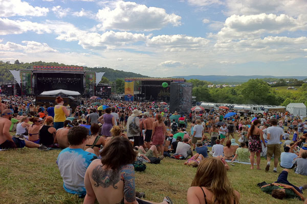 Music Festival on Mountain