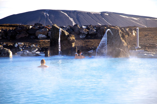 dip in Iceland's hottest hot springs