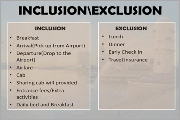 inclusions and exclusion